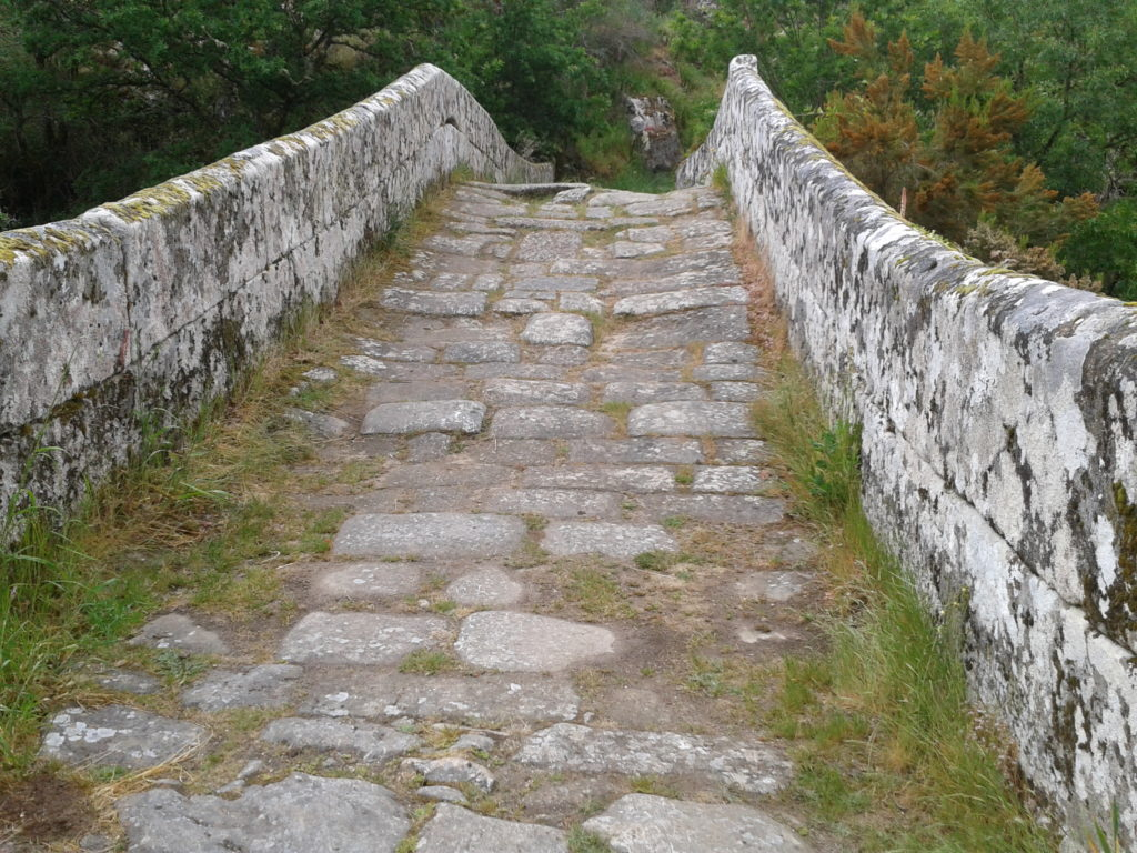 Roman Bridge on the Via de La Plata route of the Camino de Santiago